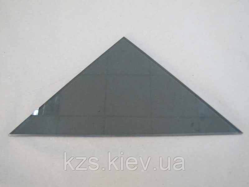 Полка треугольная из стекла графит толщиной 5мм. 250х250мм
