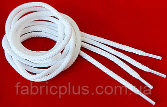 Шнурки  круглые  толстые  белые  1,0 м