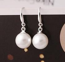 "Серьги с белым жемчугом ""Pearl"""