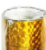 Скотч 12мм*10 м лазер золото