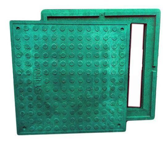 Канализационный смотровой люк Garden полимерпесчаный (зелёный) 1.5т 480/640