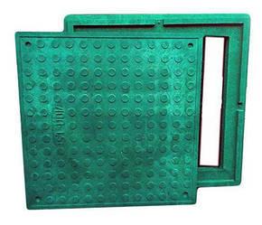 Каналізаційний люк оглядового Garden полімерпісчаний (зелений) 1.5 т 480/640