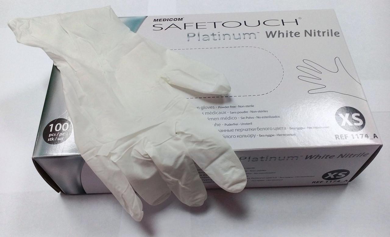 Перчатки нитриловые SafeTouch® Slim PLATINUM WHITE