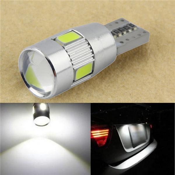 Автолампи світлодіодна T10 W5W 6 Led 5630 + лінза (з обманкою)