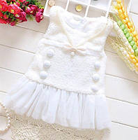 Платье детское белое 6909