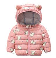 Демисезонная курточка розовая 1492