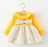 Платье для девочки желтое 4736