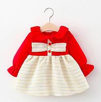 Платье для девочки красное 4737