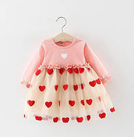 Платье Heart розовое 4743
