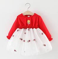 Платье Rose красное 4749
