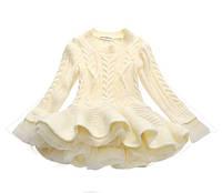 Нарядное платье для девочки белое 4893