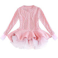 Нарядное платье для девочки розовое 4894