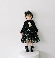 Платье для девочки черное 4928