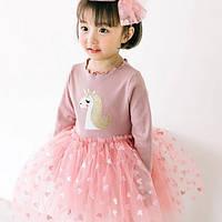 Платье для девочки розовое 4929