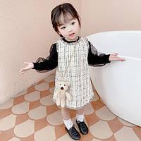 Нарядный комплект для девочки белый сарафан 4993