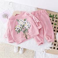 Костюм для девочки розовый Flowers 1051