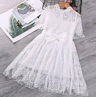 Нарядное платье белое 4211