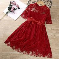Нарядное платье красное 4210
