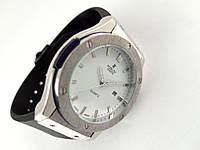 Мужские часы HUBLOT - Big Bang каучуковый черный ремешок, цвет серебро, фото 1