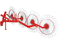 Грабли ворошилки Корунд (4 солнышка) агрегатируется с тракторами ― 22-24 л.с