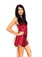 Красивый яркий шелковый пеньюар, ночная сорочка, рубашка,размеры. Красивые сорочки в розницу и оптом