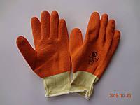 Перчатки х/б с оранжевым латексным покрытием Garden Tool (упаковка 12 пар), фото 1