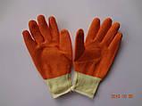 Перчатки х/б с оранжевым латексным покрытием Garden Tool (упаковка 12 пар), фото 3