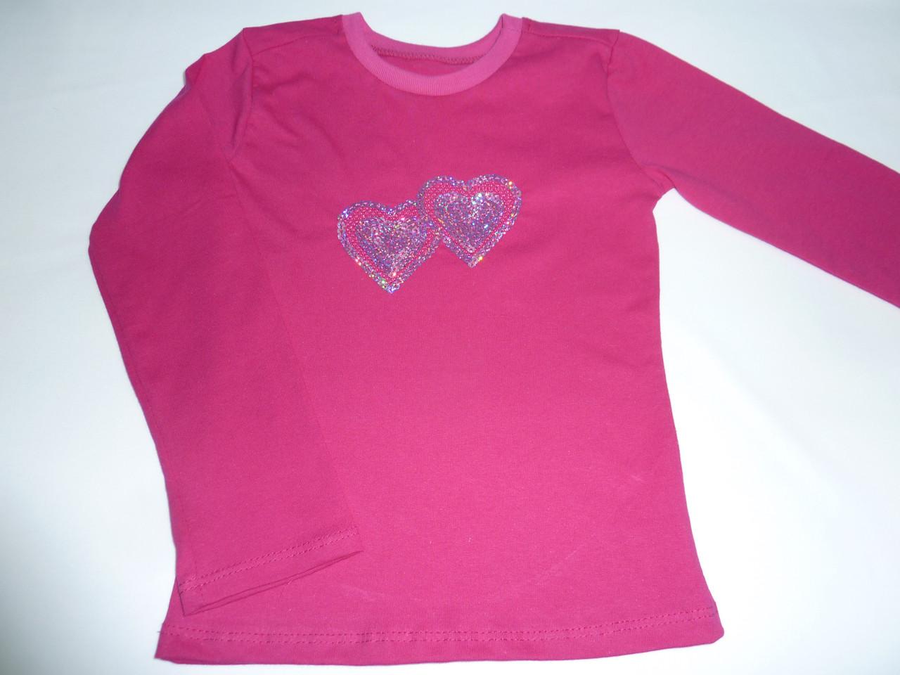Детская футболка  с длинным рукавом сердечки