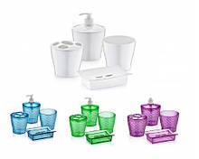 Набір аксесуарів для ванної кімнати Irak Plastik 4пр. (колір в асортименті)