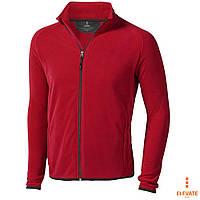 Толстовка-худи мужская флисовая, кофта красная на молнии с карманами Elevate Brossard, под нанесение логотипа