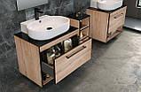 BLACK EDGE комплект меблів 90см, дуб: тумба підвісна зі стільницею 1 ящик + умивальник накладний i32119(2), фото 4