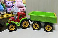 Трактор с прицепом, детская машинка, пластик тм Технок