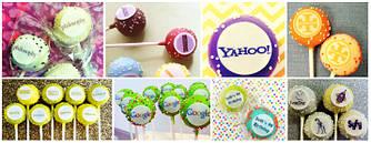 Кейк-попсы, кейк-боллы корпоративные с логотипом