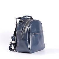 Синій невеликий рюкзак-сумка з натуральної шкіри на одне відділення Tiding Bag - 24094, фото 2
