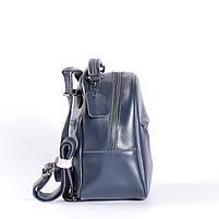 Синій невеликий рюкзак-сумка з натуральної шкіри на одне відділення Tiding Bag - 24094, фото 3