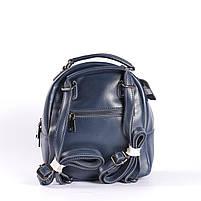 Синій невеликий рюкзак-сумка з натуральної шкіри на одне відділення Tiding Bag - 24094, фото 4