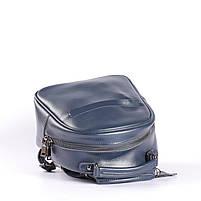 Синій невеликий рюкзак-сумка з натуральної шкіри на одне відділення Tiding Bag - 24094, фото 5