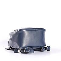 Синій невеликий рюкзак-сумка з натуральної шкіри на одне відділення Tiding Bag - 24094, фото 6