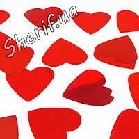 Конфетти фасованное 'Красные сердца' (1 кг)