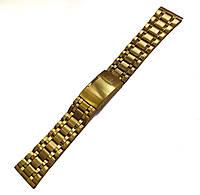 Браслет к часам Orient - нержавейка, цвет золото 18-20-22мм