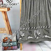 Махровое банное полотенце Тигр с веточкой (8)