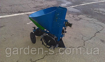 Картофелесажатель мотоблочный Кентавр КСМ-1ЦУ (синий) с бункером для удобрений, фото 2