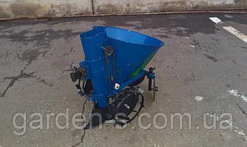 Картофелесажатель мотоблочный Кентавр КСМ-1ЦУ (синий) с бункером для удобрений, фото 3