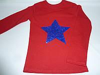 Детская футболка с пайетками звезда