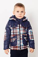 """Стильная курточка для мальчика  """"Клетка""""  от 1 года до 4 лет"""