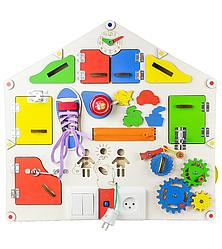 Детская развивающая доска дом D004  с подсветкой