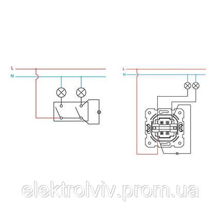 Выключатель 2-кл с подсветкой, фото 2