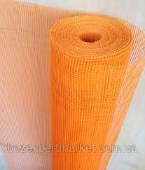 """Сетка строительная (фасадная,оранжевая) WORKS 160 g\m2"""",1х50м. (для наружных и внутренних работ)."""