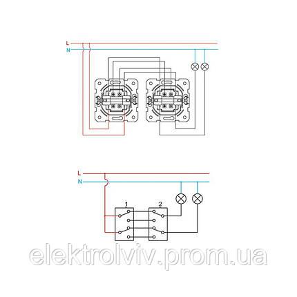Выключатель 2-кл проходной, фото 2