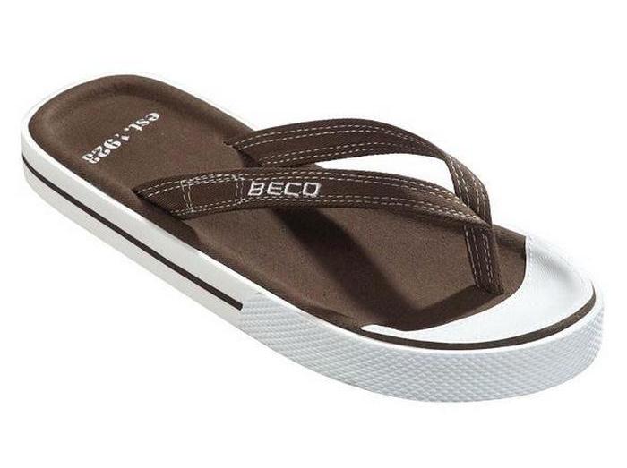 Мужские вьетнамки BECO коричневый 90614 9